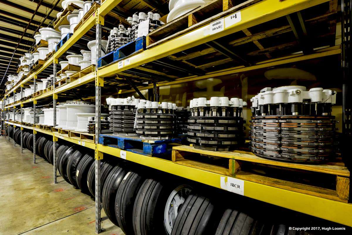 Large inventory of aircraft wheels and aircraft brakes