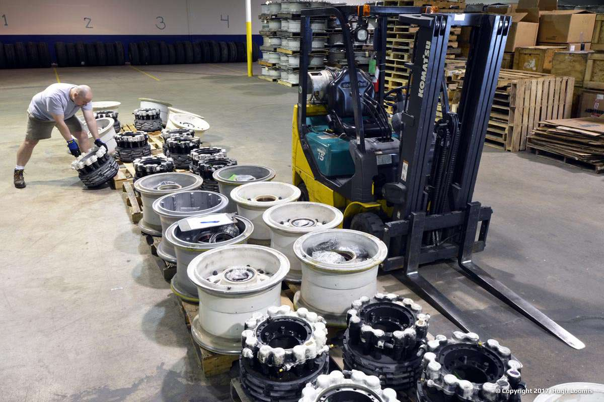 Pulling inventory of aircraft wheels and aircraft brakes